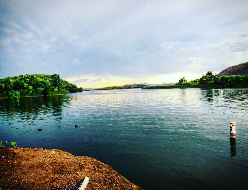 Terapia del lago fotografia stock