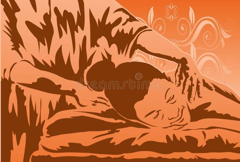 Terapia del masaje stock de ilustración