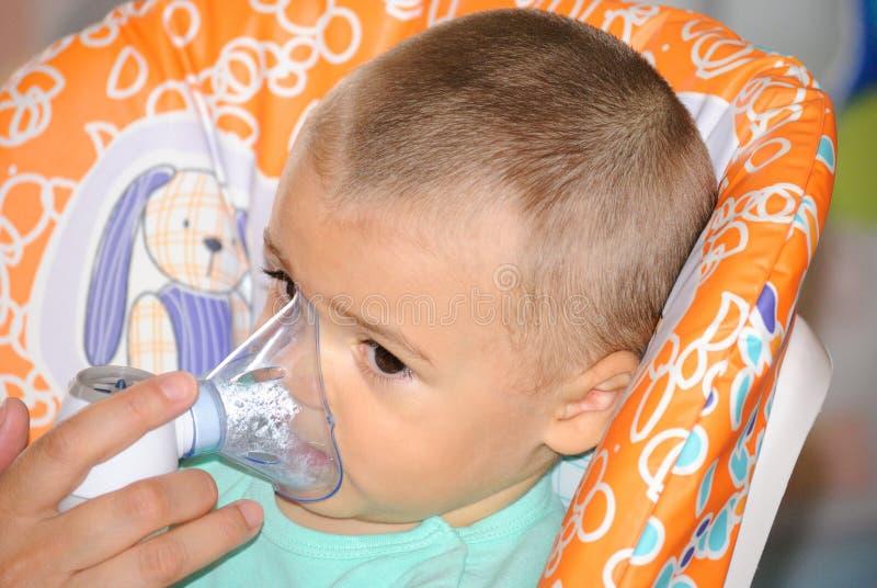 Terapia del nebulizzatore fotografia stock