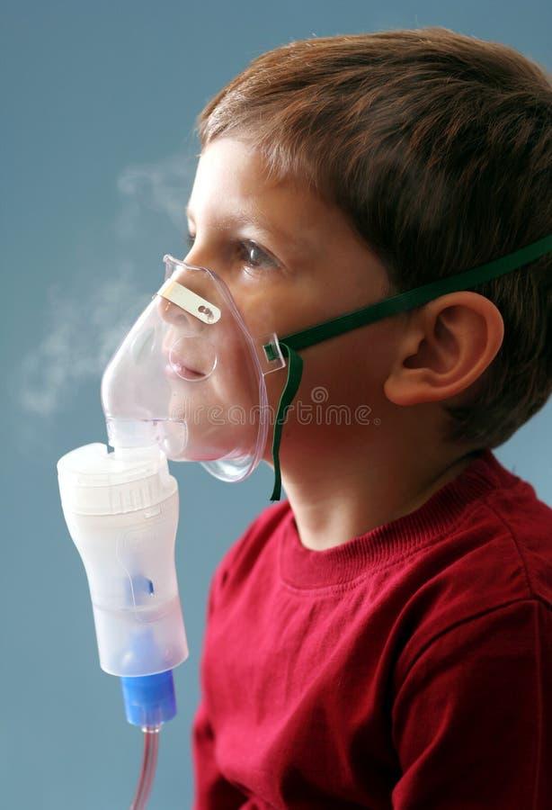 Terapia del nebulizzatore del compressore fotografia stock