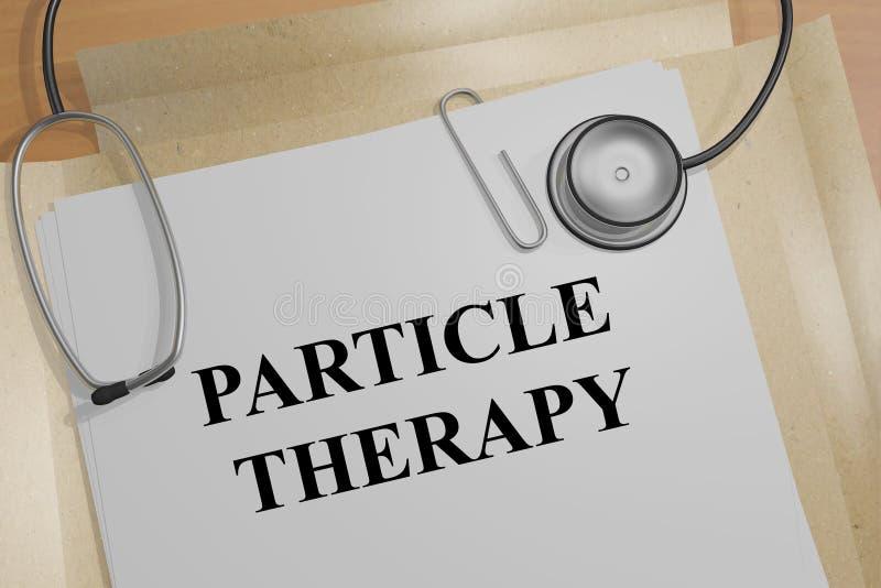 Terapia della particella - concetto medico royalty illustrazione gratis