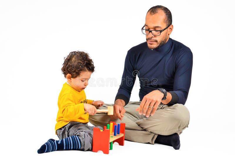 Terapia didático das crianças para o autismo imagens de stock