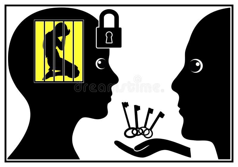 Terapia dla Ogólnospołecznej fobii ilustracji