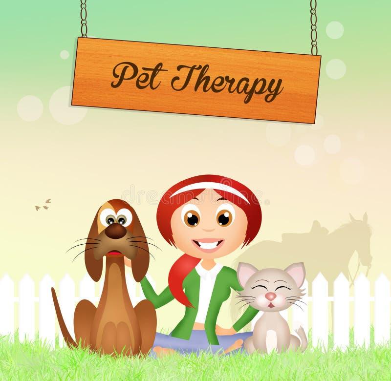 Terapia do animal de estimação ilustração do vetor