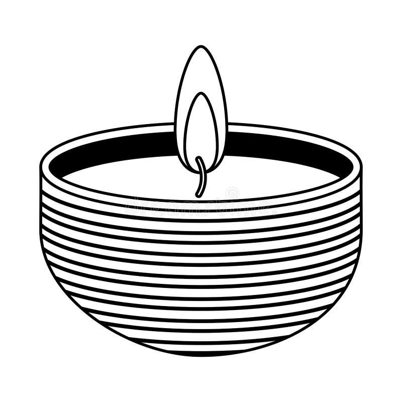 Terapia do aroma dos termas da vela ilustração do vetor