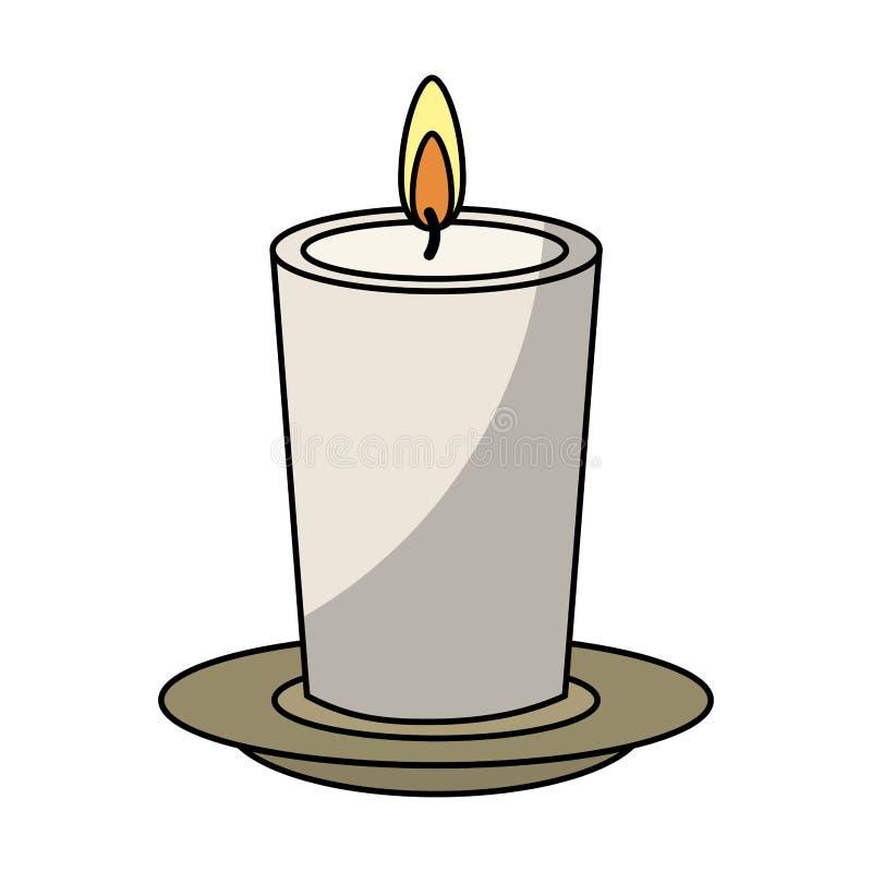 Terapia do aroma dos termas da vela ilustração stock