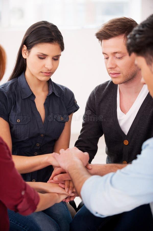 Terapia do grupo. imagem de stock