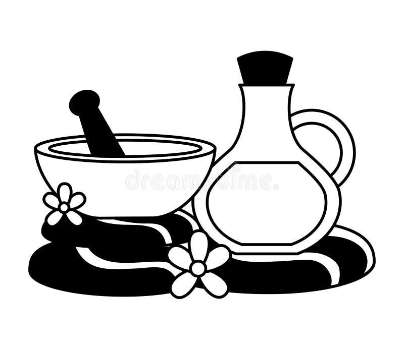 Terapia do tratamento dos termas ilustração royalty free