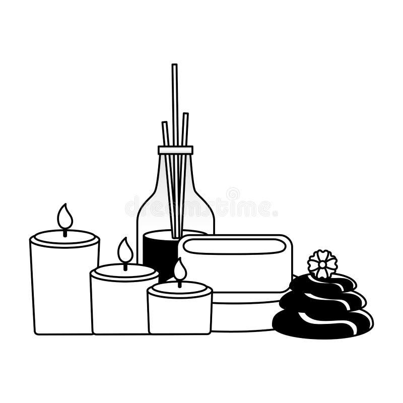 Terapia do tratamento dos termas ilustração do vetor