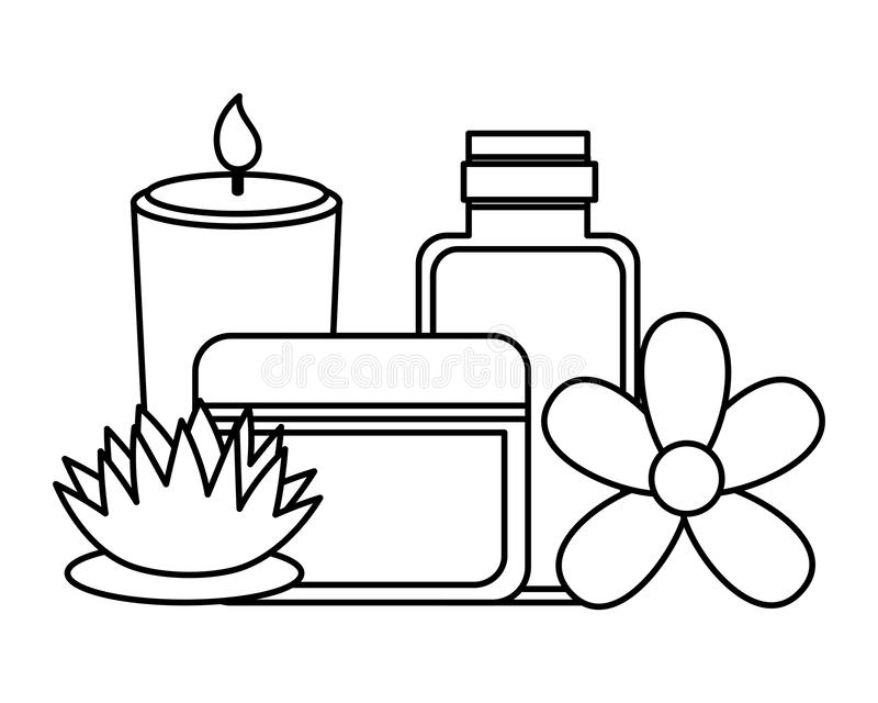 Terapia do tratamento dos termas ilustração stock