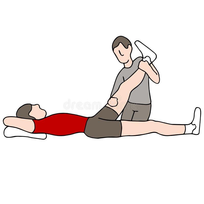 Terapia física ilustración del vector