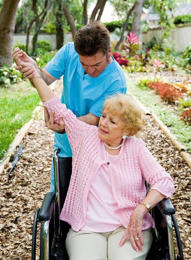 Terapia física - artritis imagen de archivo