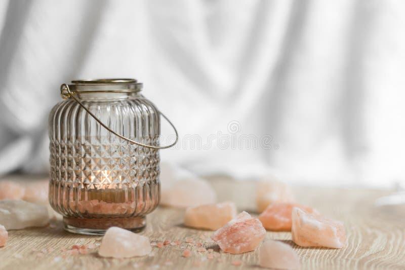 Terapia himalayana del sale fotografia stock