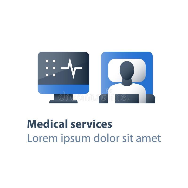 Terapia inmóvil, choza en sala, cama de hospital, atención médica, hospitalización y tratamiento, sitio de la cirugía libre illustration