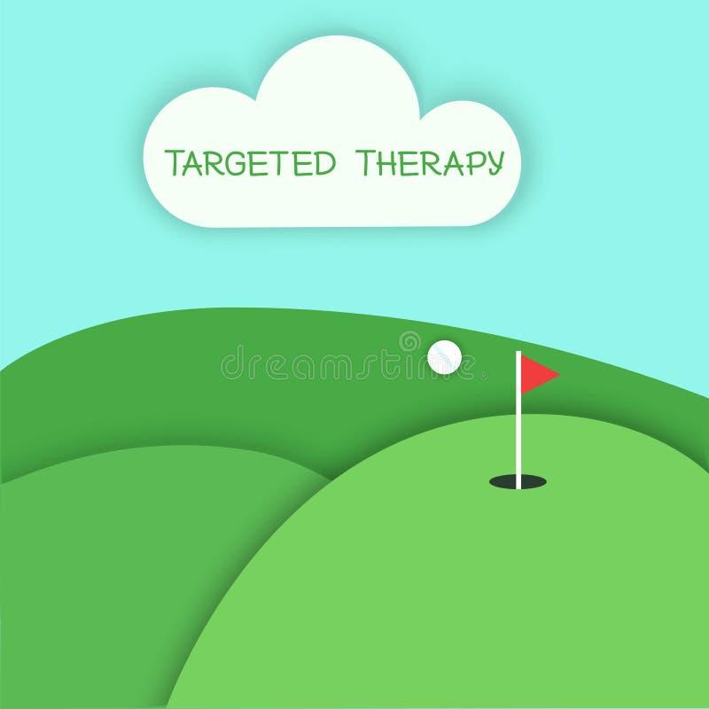Terapia mirata a che gioca concetto di golf illustrazione di stock