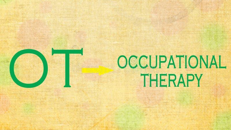 Terapia ocupacional OT ilustração do vetor