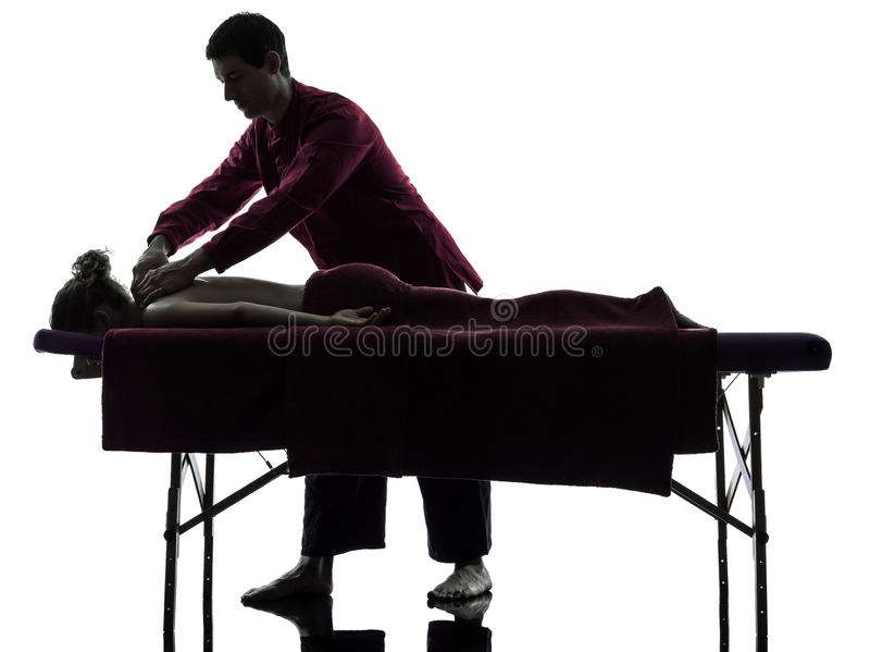 Terapia posterior del masaje fotografía de archivo libre de regalías