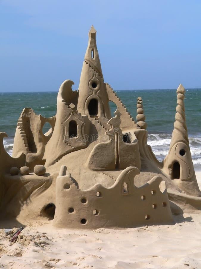 teraz jest zamek z piasku obrazy stock