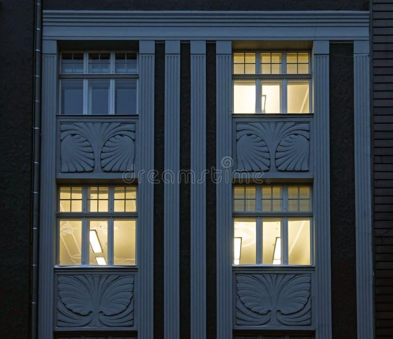 Terbatas 14, evening window. Modrn, the center of Riga royalty free stock photos