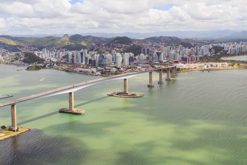Terceira ponte, Vitoria, Vila Velha, Brasil imagens de stock royalty free
