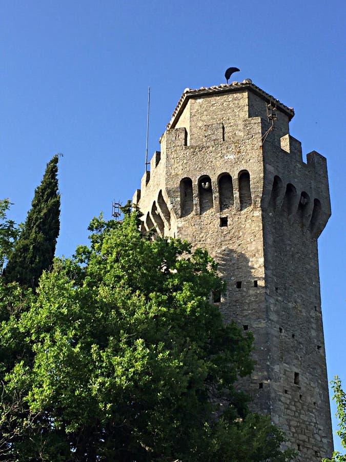 Terceira torre em São Marino fotos de stock royalty free