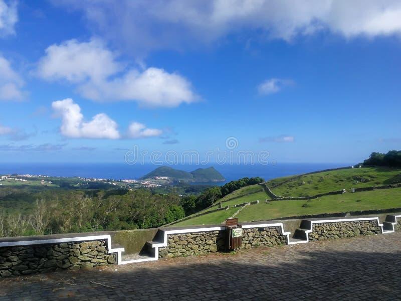 Terceiraeiland, één van de negen eilanden Van de Azoren in de Centrale Groep, gevestigd in de Noord-Atlantische Oceaan stock foto