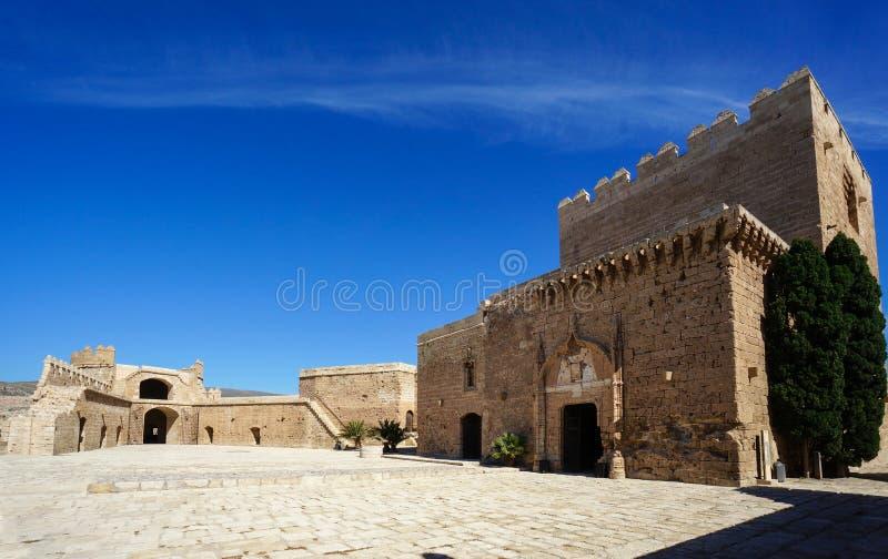 Terceiro cerco em Almeria, o castelo fortificado da Espanha imagens de stock royalty free