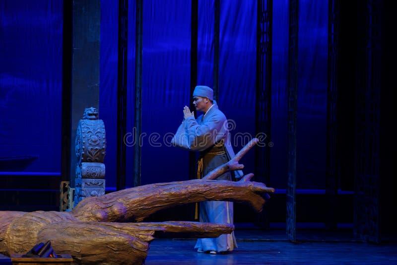 tercer acto del monje- ambulante: la noche del drama histórico montaña-grande del acantilado, ` Yangming ` de tres noches imagen de archivo