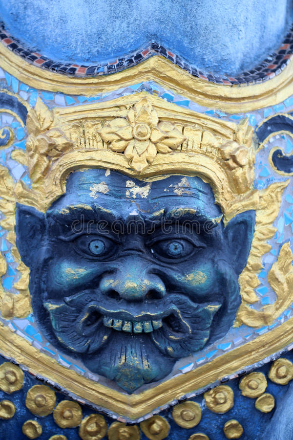 Tercer ojo de las estatuas gigantes imagenes de archivo