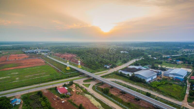 Tercer puente tailandés y del Lao de la amistad fotos de archivo libres de regalías
