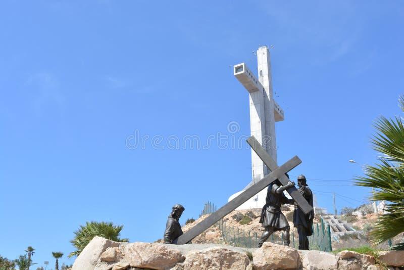 Tercera cruz del milenio en Coquimbo, Chile imagen de archivo libre de regalías