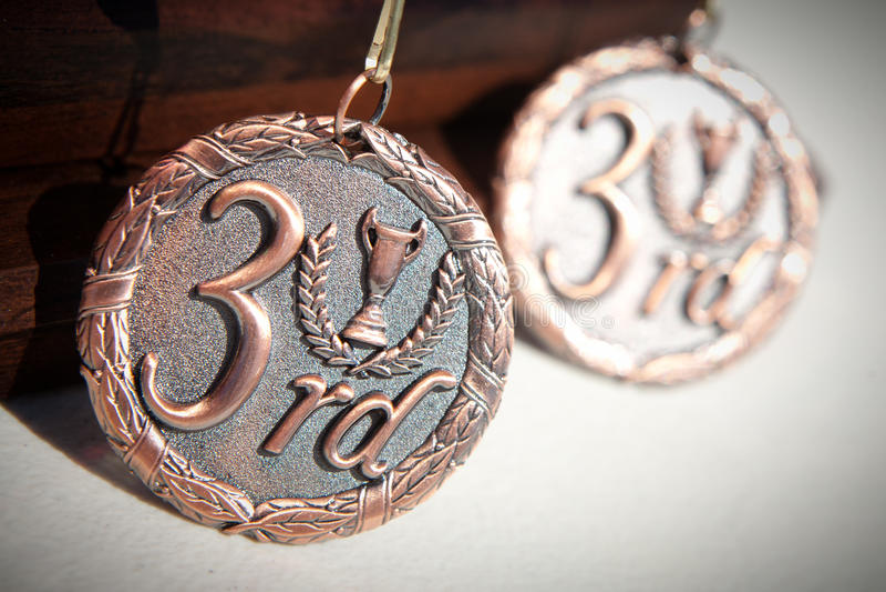 Tercera medalla del lugar foto de archivo