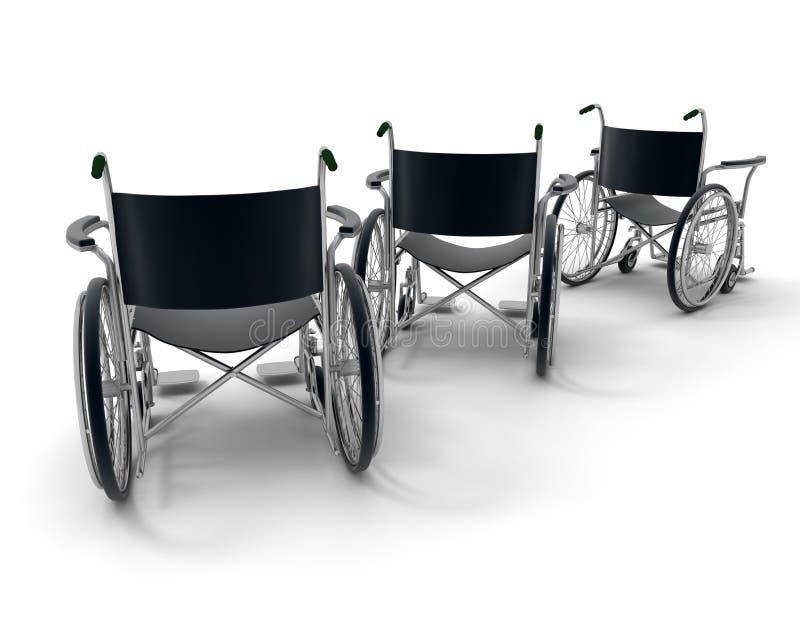 tercetu wózek inwalidzki royalty ilustracja