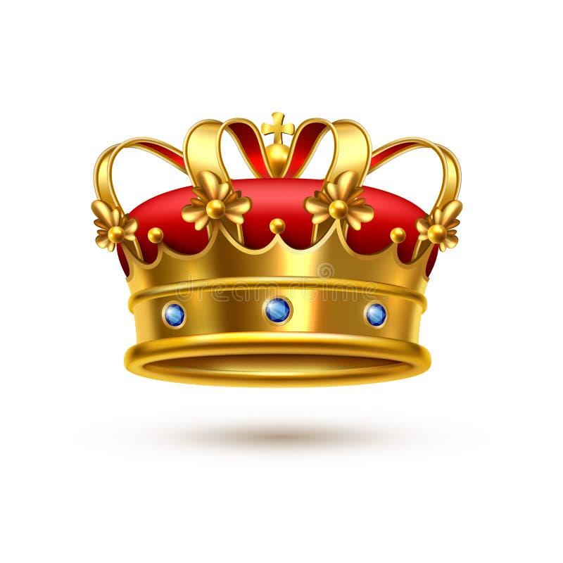 Terciopelo real del oro de la corona realista libre illustration