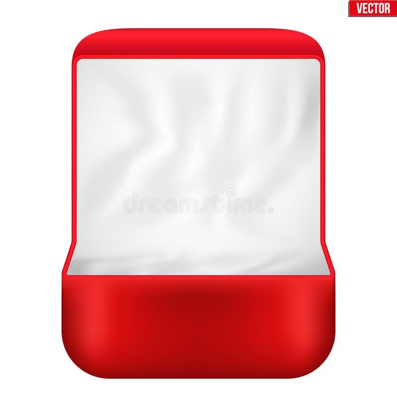 Terciopelo rojo Ring Box ilustración del vector