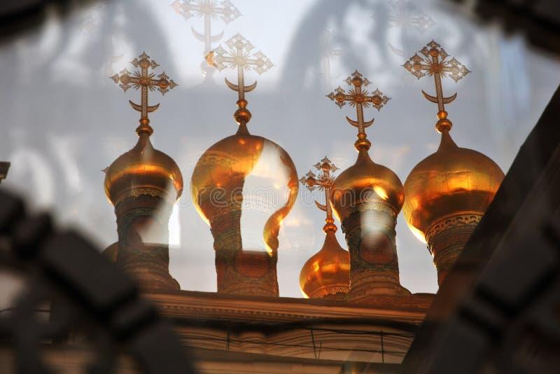 Teremkerken van Moskou het Kremlin De Plaats van de Erfenis van de Wereld van Unesco royalty-vrije stock fotografie