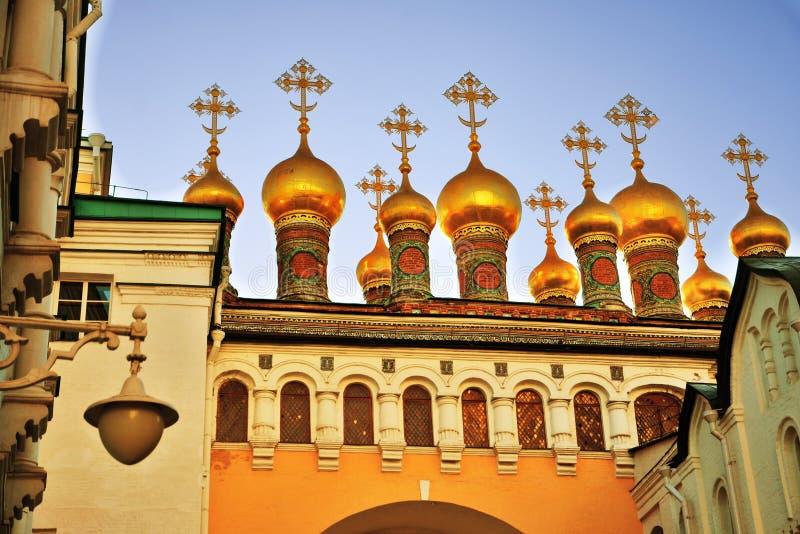 Teremkerken van Moskou het Kremlin De Plaats van de Erfenis van de Wereld van Unesco royalty-vrije stock foto's