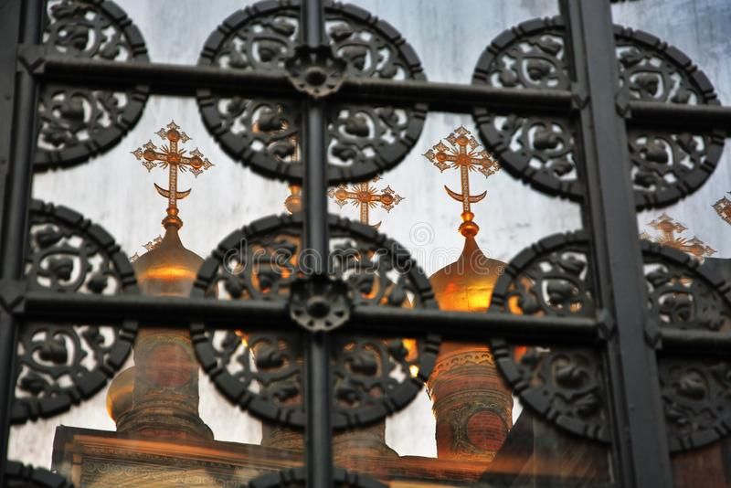 Teremkerken van Moskou het Kremlin De Plaats van de Erfenis van de Wereld van Unesco stock afbeeldingen