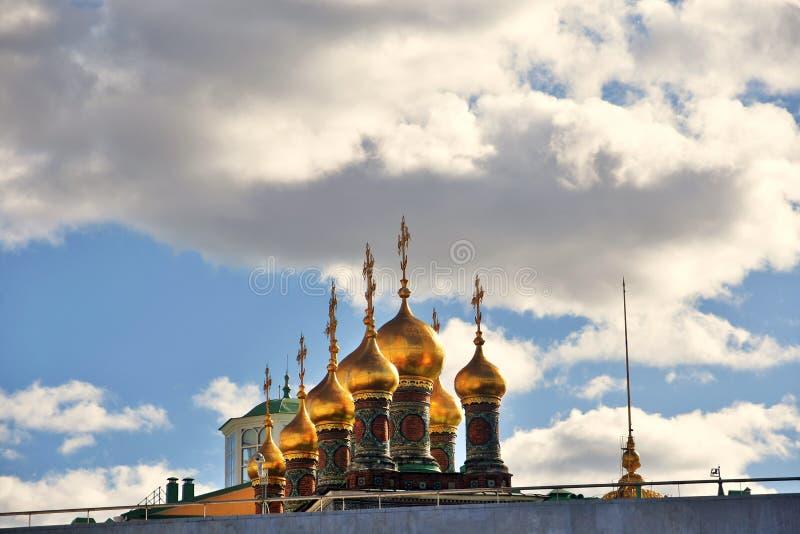 Teremkerken van Moskou het Kremlin De Plaats van de Erfenis van de Wereld van Unesco royalty-vrije stock foto