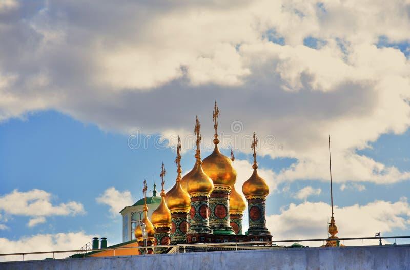 Teremkerken van Moskou het Kremlin De Plaats van de Erfenis van de Wereld van Unesco stock foto