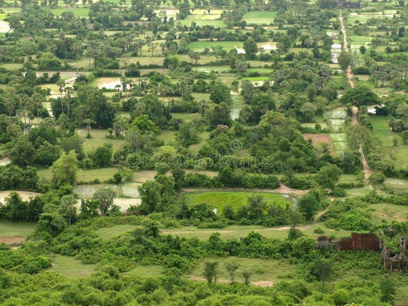 teren Cambodia wiejski zdjęcie royalty free