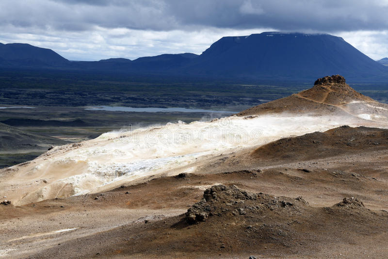 teren geotermiczny zdjęcie royalty free