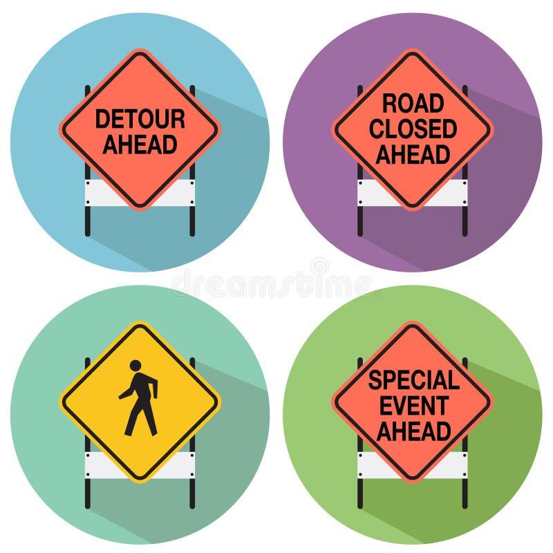 teren odizolowywał pedestrians zabraniających ograniczających drogowych znaki drogowy ilustracji