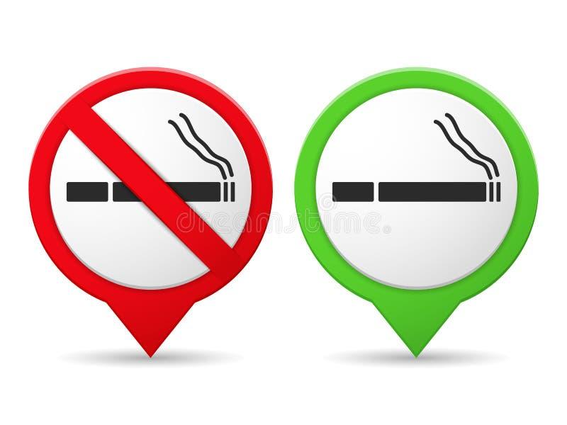 teren palenie zabronione ilustracji