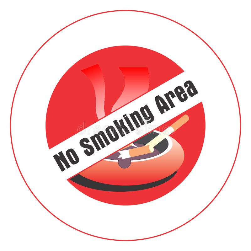 teren palenie zabronione ilustracja wektor
