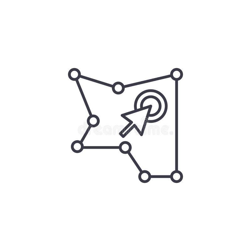 Teren wybór ikony liniowy pojęcie Teren wybór linii wektoru znak, symbol, ilustracja ilustracji