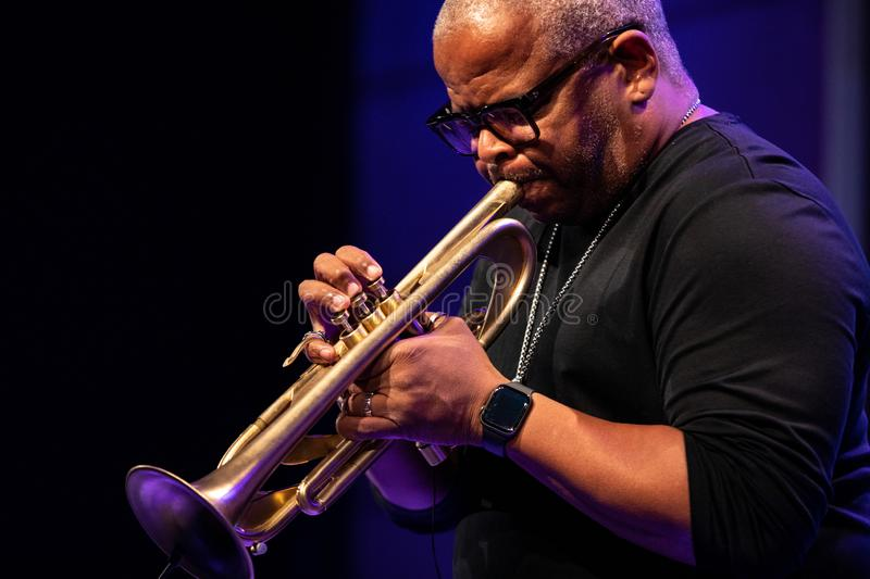 Terence Blanchard et l'E-collectif images stock