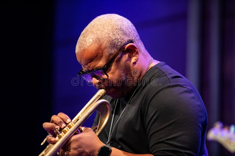 Terence Blanchard et l'E-collectif photo stock