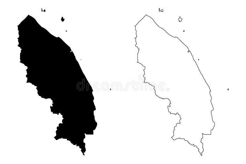 Terengganu mapy wektor ilustracja wektor