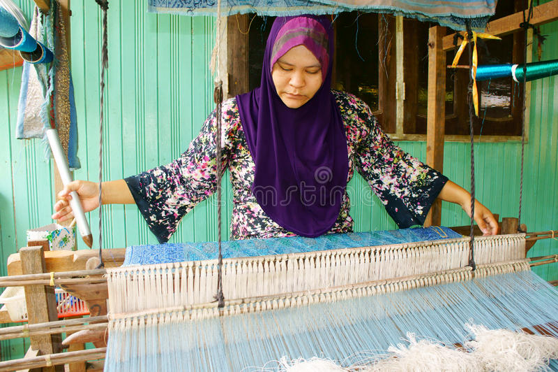 Terengganu songket Weber lizenzfreie stockfotos